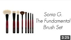 Sonia G The Fundamental Brush Set Review